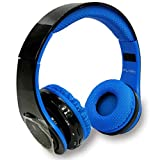 iFlash USA AR 700 Wireless Bluetooth Foldable SOLAR Headphones - SD Card FM Radio (Blue)Microphones Hands-free Calling for Iphone , Samsung,Android Smartphone,Tablet