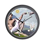 CafePress – Creation/Bull Terrier Wall Clock – Unique Decorative 10″ Wall Clock Review