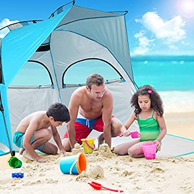 BATTOP Instant Beach Tent Sun Shelter - Easy Set Up Sun Shade for Family Outdoor