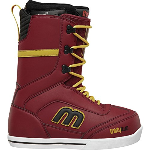 ThirtyTwo Lo-Cut Sexton Snowboard Boot - Men's Burgundy, 13.0 - Traction Snowboard Jacket