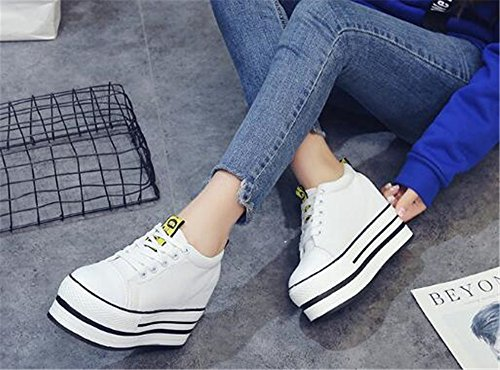 Tennis Shoes Shoes HOM Wedges on Womens Lightweight Slip White Sports MIKA Mesh Platform XvIBxqOw