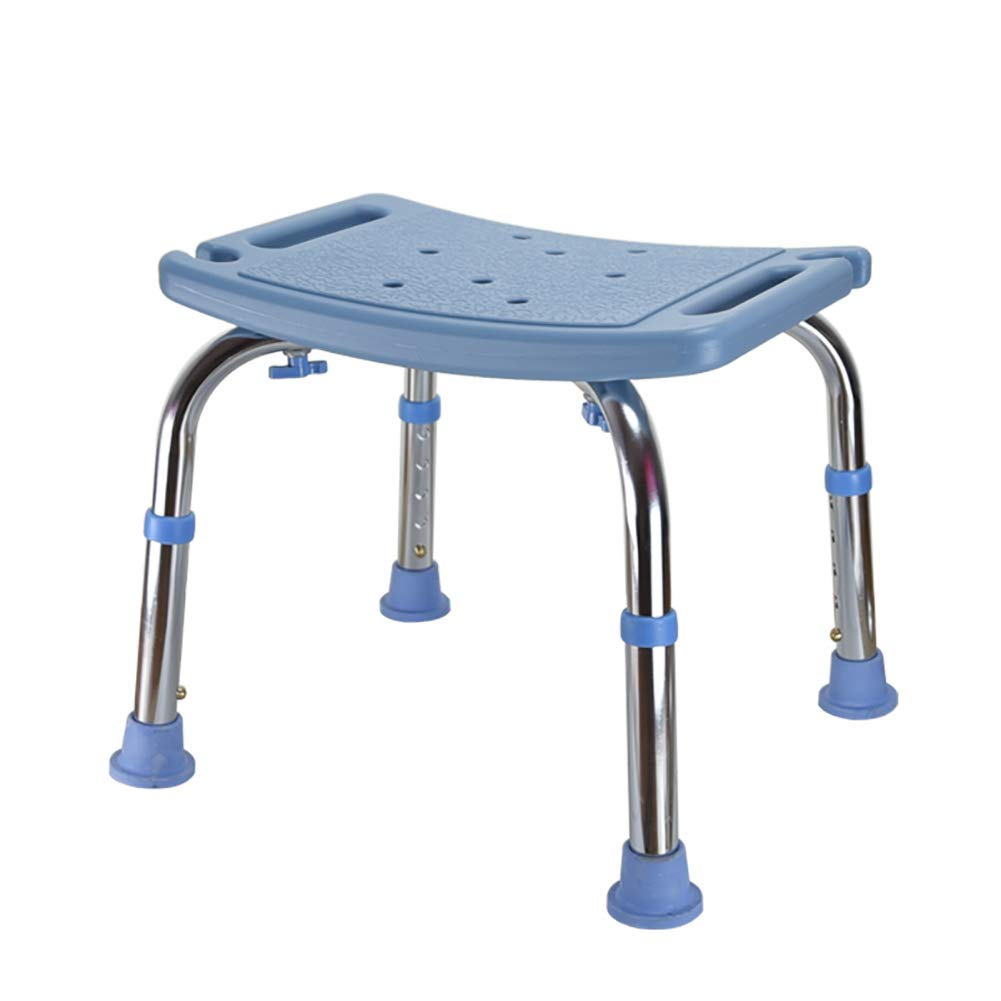 Ai Non-slip Tabletop Tub Stool Seat, Adjustable Shower Chair Bench Maternity Bath Chair 2 Color Optional (Color : Blue)