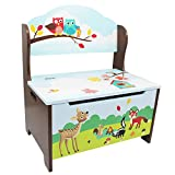 Fantasy Fields – Enchanted Woodland Thematic Kids Storage Bench  | Imagination Inspiring Hand Crafted & Hand Painted Details | Non-Toxic, Lead Free Water-based Paint Review