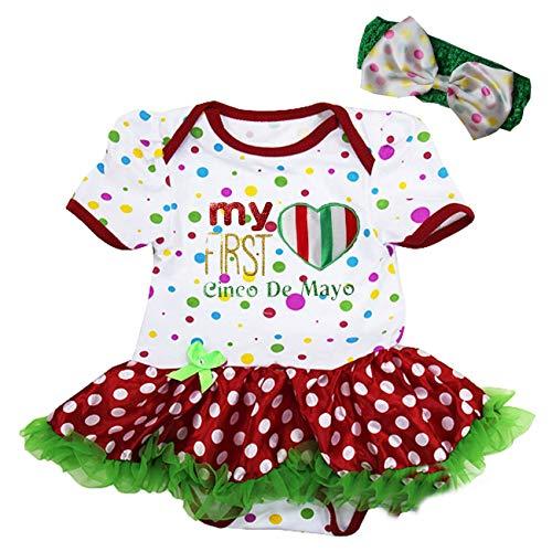 Kirei Sui Baby First Cinco De Mayo Bodysuit Small Polka dots ()