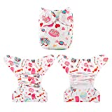 Babygoal Cloth Diaper Cover for Girls,Baby