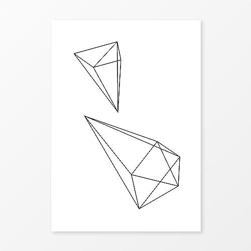 Amazon.com: Abstract Geometric Diamond Wall Art Print, Size 5x7 ...