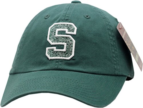 Michigan State Spartans Hat Buckle Back Slouch Logo W/White Trim 11746