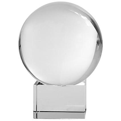Amazon.com: Amlong Crystal CO10080G Meditation Ball Globe with Free on