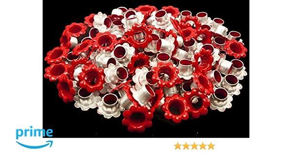 ARTS AND CRAFTS SUPPLIES 100pcs Aluminium White Flowers Eyelet Scrapbooking Card Hole LeatherCraft Snap Punch E058