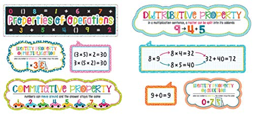 Carson Dellosa School Pop Properties of Operations Mini Bulletin Board Set -