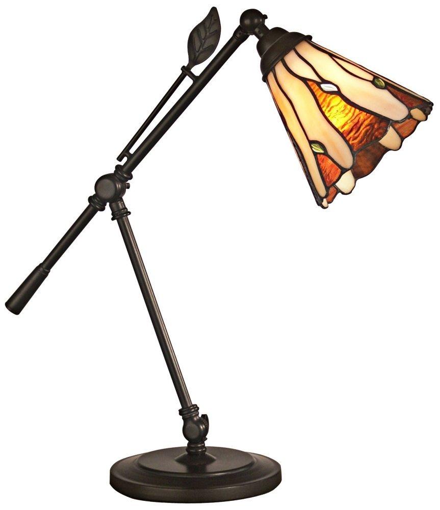 Dale Tiffany TA11158 Tiffany Leaf Desk Lamp, Dark Bronze by Dale Tiffany Lamps