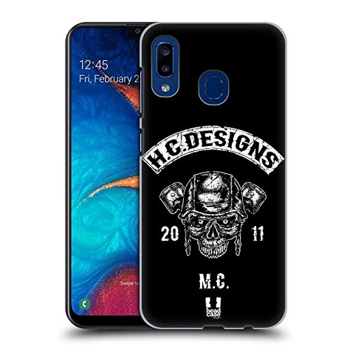 Head Case Designs Piston Head Hc Motor Rebels Hard Back Case Compatible for Samsung Galaxy A20 / A30 (2019)