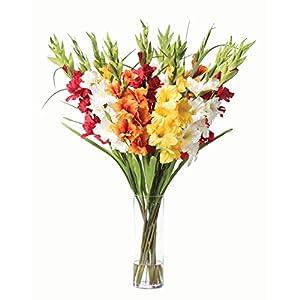 Gladiolus Silk Flower Arrangement - Mixed Colors 96