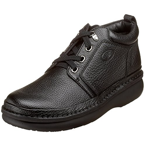 Propet Men's Villager Mid Shoe Black 7 X (3E) & Oxy Cleaner Bundle