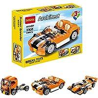 Babytintin Architect Series 3 in 1 Educational Racing Car Blocks Learning Bricks Toy for Kids (Super Airplane - 130 Pcs) (3108)