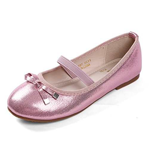 EIGHT KM EKM7007 Girls Ballet Flats Mary Janes Dress Shoes PINK-13.5]()