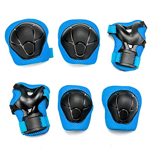 releeder Kids Child Multi Sports Protective Gear Set, Knee and Elbow Pads with Wrist Guards Toddler for Cycling, Bike, Rollerblading, Skating, Volleyball[Upgraded Version 3.0]