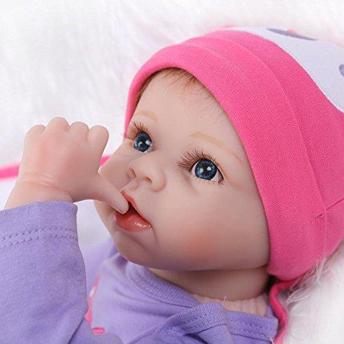 Pinky Simulation Soft Silicone Reborn Baby Doll Realistic Look Baby Girl Boy 22 Inch 55cm Newborn Baby Doll Fashion Toddler