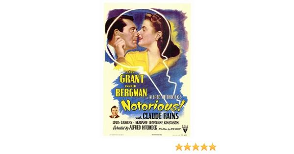 Notorious 1946 Vintage Retro Movie Poster A0-A1-A2-A3-A4-A5-A6-MAXI 255
