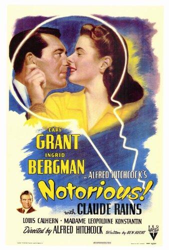 Notorious Movie Poster (27 x 40 Inches - 69cm x 102cm) (1946) -(Cary Grant)(Ingrid Bergman)(Claude Rains)(Louis Calhern)(Leopoldine Konstantin)(Reinhold - Poster Grant Movie