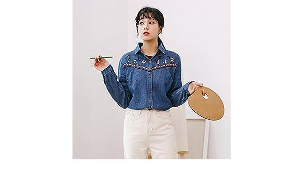 XXIN El Cowboy/Chica/Camisa/Jeans Camiseta Camisa Femenina/M/Azul: Amazon.es: Deportes y aire libre
