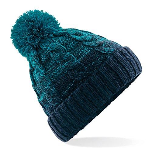 Piel cambio Limitado 60 imagen Verde de Tejido grueso Sombrero Segundo de Ombre pompon Sombrero 76SSIA5xn