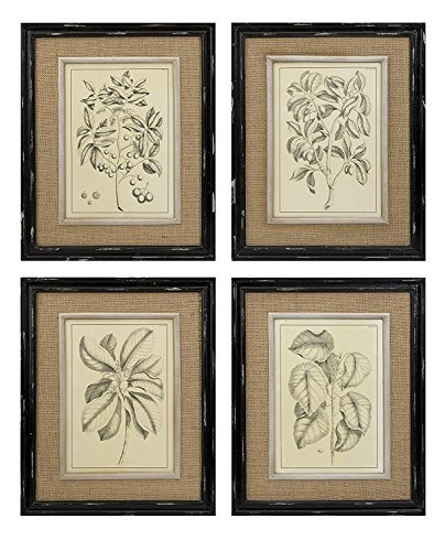 Imax Corporation Victoriana 4 Piece Wall Decor Set in Beige from Imax