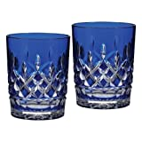 Waterford Crystal Lismore Cobalt Blue 12 oz. DOF Glasses, PAIR, New in Waterford Box