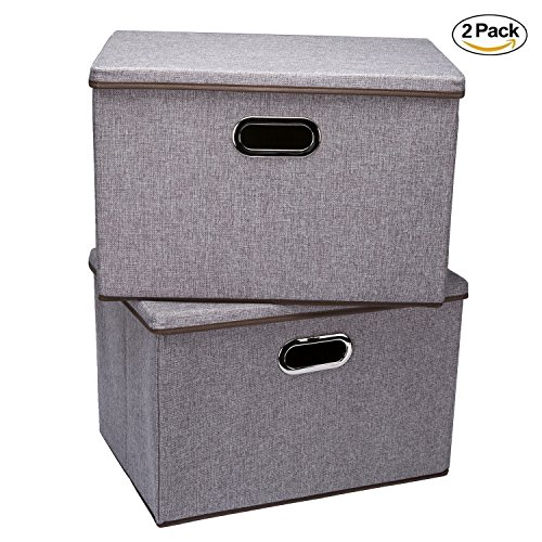 storage bins wecye large foldable storage containers with import it all. Black Bedroom Furniture Sets. Home Design Ideas