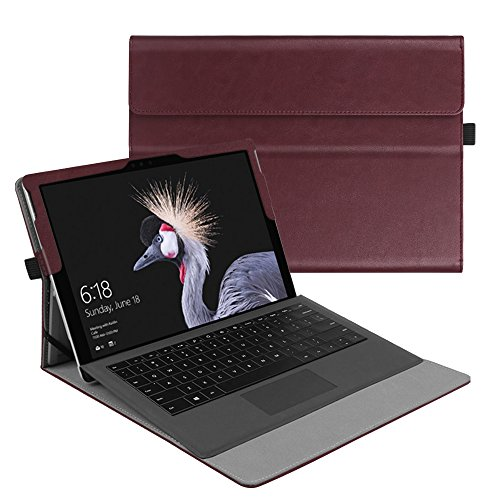 Fintie-New-Surface-Pro-2017-Surface-Pro-4-Case-Multi-Angle-Viewing-Portfolio-Business-Cover-for-Microsoft-Surface-Pro-2017-Pro-4-Pro-3-Compatible-with-Type-Cover-Keyboard---Burgundy