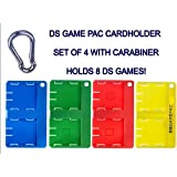 SD Cardholder DS Game Card Holder with Carabiner, 4pk (DS)