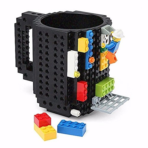 Assembled BPA-Free Build On Brick Coffee Mug With Accessories