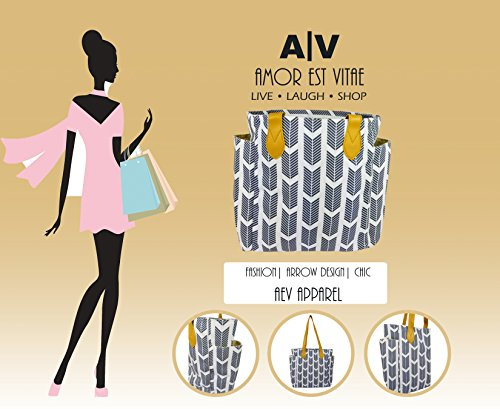 Women's tote bag with arrow print. This top handle shoulder handbag is Perfect for Spring and Summer. Spring forward Sale! (gray)
