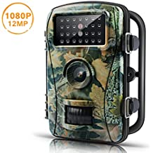 【Upgraded】Trail Game Camera-ENKLOV 12MP 1080P Wildlife Hunting Camera with Infrared Night Vision,26pcs 940nm IR LEDs,2.4inch LCD Screen,IP66 Waterproof