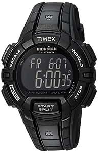 Timex Men's T5K793 Ironman Rugged 30 Full-Size Blackout Resin Strap Watch