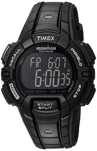 Timex Men's T5K793 Ironman Rugged 30 Full-Size Black Resin Strap Watch (Digital Iron Man Watch)