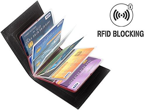 Aprince Amazing Men Slim Genuine Cowhide Leather Wallet Card Case Purse - Credit Card Protector - RFID Blocking (Cow Hide Bag)