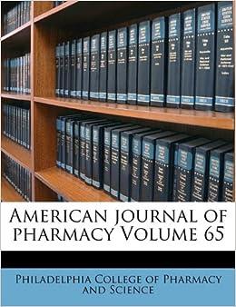 Book American journal of pharmacy Volume 65