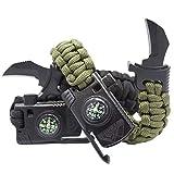 Best Survival Bracelets - 2 Pack- Paracord Survival Bracelets with Knife Review