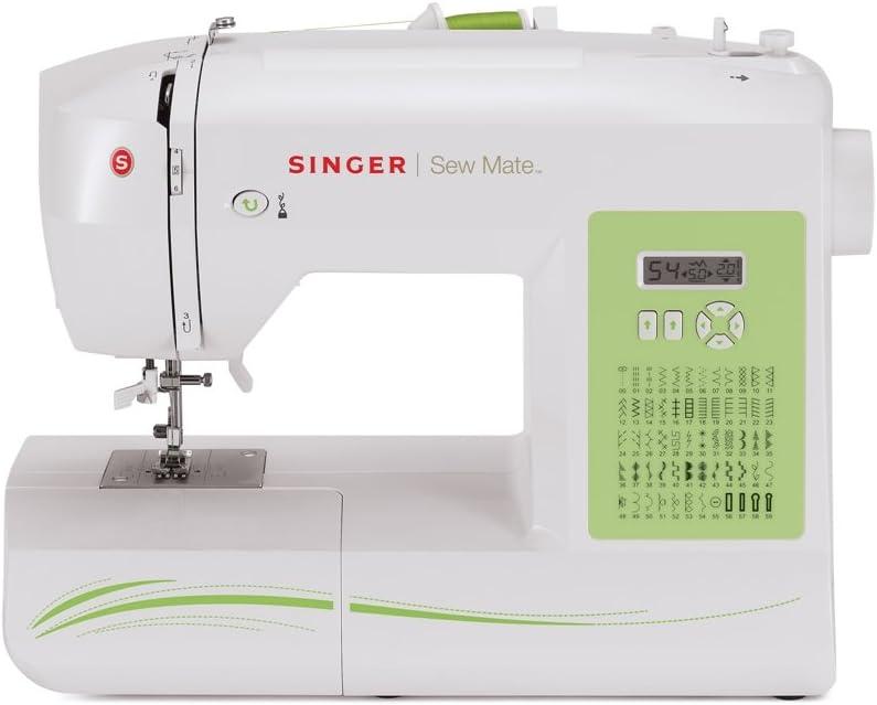 SINGER Sew Mate - Máquina de coser (Blanco, Máquina de coser automática, Costura, 1 paso, Variable, Eléctrico): Amazon.es: Hogar