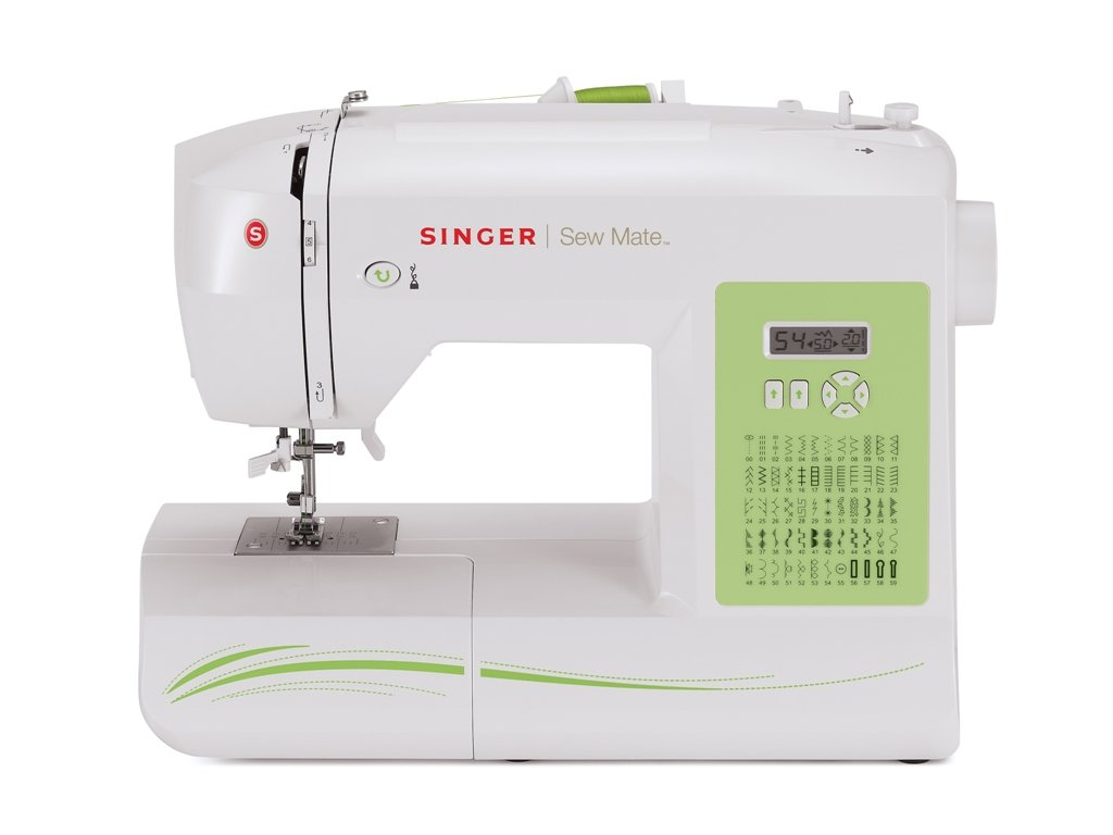 SINGER | Sew Mate 5400 Handy Sewing Machine Including 60 Built-in Stitches, 4 Fully Built-in 1-Step Buttonhole, Automatic Needle Threader & Automatic Tension, Help to get Started in No time by SINGER