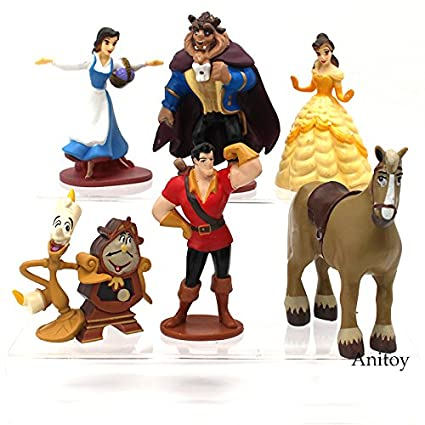 Amazon.com: 6pcs/set Bella y la bestia princesa bella bestia ...