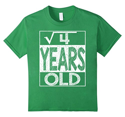 Kids Square Root of 4 Shirt Cool Gift Idea 2nd Birthday T-Shirt 4 (2nd Birthday Ideas)