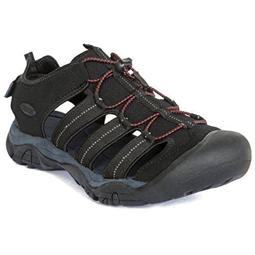 (Trespass Torrance Men's Closed Toe Protective Hiking Sandals - Black 42)