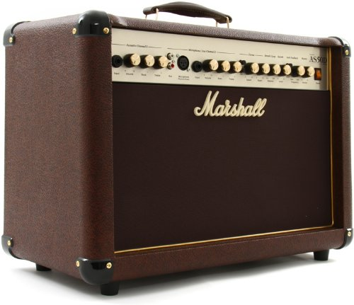 Marshall Acoustic Soloist AS50D 50 Watt Acoustic Guitar Amplifier with 2 Channels, Digital Chorus and Reverb by Marshall Amps