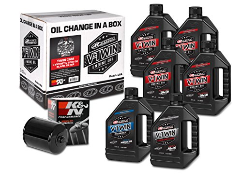 Maxima Racing Oils 90-119016B Black Maxima 90-119016B Twin Cam Synthetic 20W-50 Black Filter Complete Oil Change Kit, 6 quart, 1 Pack