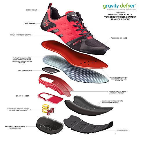 Gravity Defyer Mens G-Defy Scossa Black Red Athletic Shoes black,red
