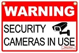 Signs'R Us WARNING SECURITY CAMERAS IN USE 12' x 18' Corrugated Yard Sign w/ Metal Stake