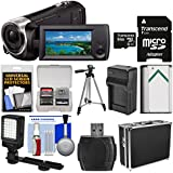Sony Handycam HDR-CX405 1080p HD Video Camera Camcorder 64GB Card + Hard Case + LED Light + Battery & Charger + Tripod + Kit