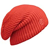 Buff Headwear Knitted & Polar Slouchy Hat, Drip Orange